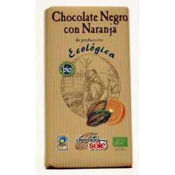 CHOCOLATE CON NARANJA ECOLÓGICO 100 gr  SOLÉ
