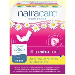 Compresas Long Ultra Extra Algodón Orgánico 8 Und Natracare