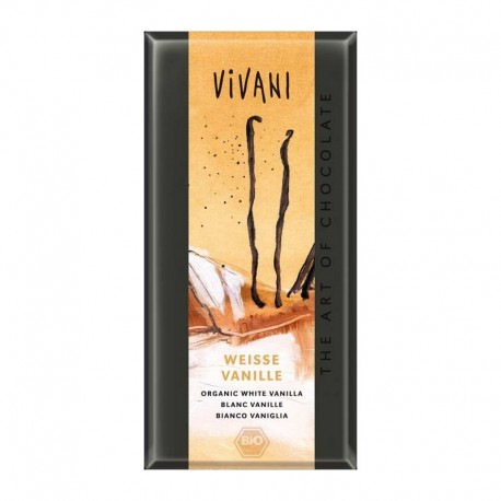 CHOCOLATE BLANCO VAINILLA 100 GR ECOLÓGICO VIVANI