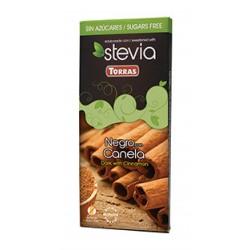 CHOCOLATE NEGRO CON CANELA 125g STEVIA S/GLUTEN TORRAS