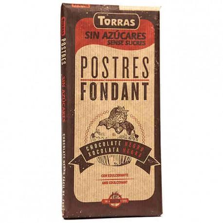 CHOCOLATE POSTRES FONDANT 200g S/AZUCAR TORRAS