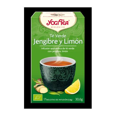 YOGI TEA TÉ VERDE JENGIBRE & LIMÓN