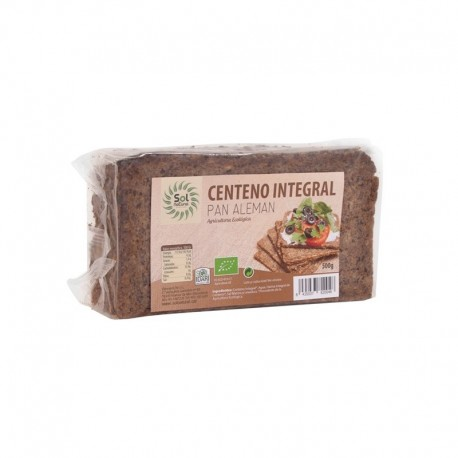 PAN DE CENTENO INTEGRAL SOL NATURAL