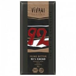 Chocolate Negro 92% Cacao Vivani