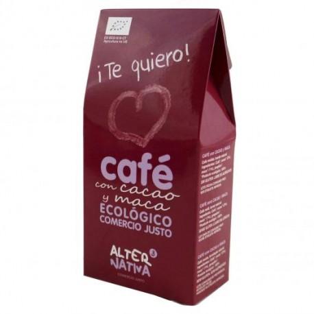 CAFÉ BIO CON CACAO Y MACA ¡TE QUIERO! ALTERNATIVA