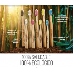 CEPILLO ECOLÓGICO DE BAMBÚ PARA NIÑOS - THE HUMBLE CO