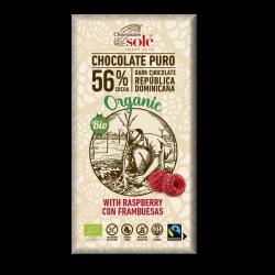 Chocolate Negro con Frambuesas 100g BIO - SOLÉ