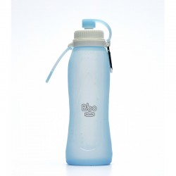 Botella Plegable de Silicona 500 ml Azul - Irisana