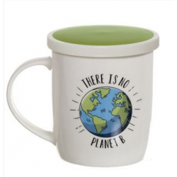 "TAZA INFUSIÓN FRASE ""THERE IS NO PLANET B"""