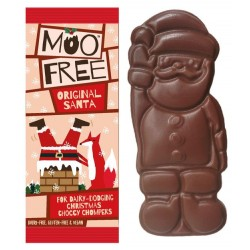 PAPÁ NOÉL DE CHOCOLATE MOO FREE (SIN LECHE, SIN GLUTEN)