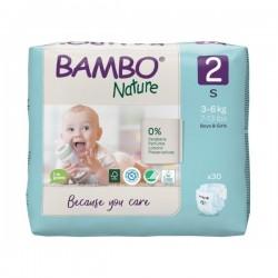 PAÑALES BAMBO NATURE TALLA 2 (3-6 KG)