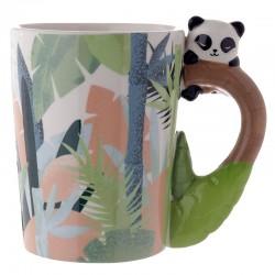 Taza Cerámica Oso Panda