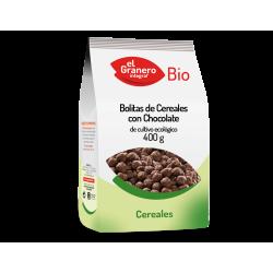 BOLITAS DE CEREALES CON CHOCOLATE BIO 400g EL GRANERO