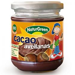 CACAO AVELLANAS BIO 200g  NATURGREEN