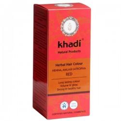 KHADI Henna Roja Con Amla y Jatropha Bio