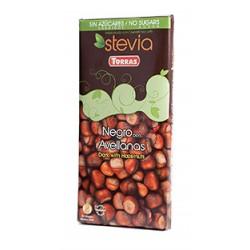 CHOCOLATE NEGRO CON AVELLANAS S/A STEVIA TORRAS